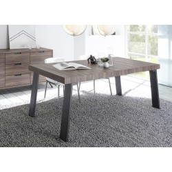 Parma-Dark Walnut dinning table with steel legs