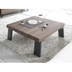 Parma-Dark Walnut coffee table with steel legs