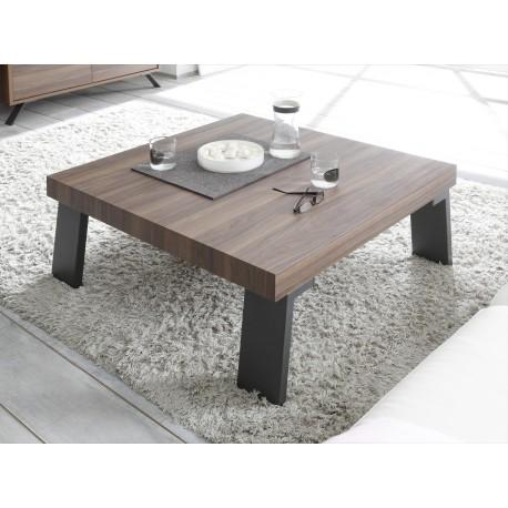 Wonderful Parma Dark Walnut Coffee Table With Steel Legs