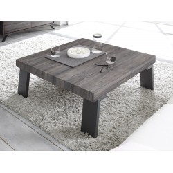 Parma II-wenge coffee table with steel legs