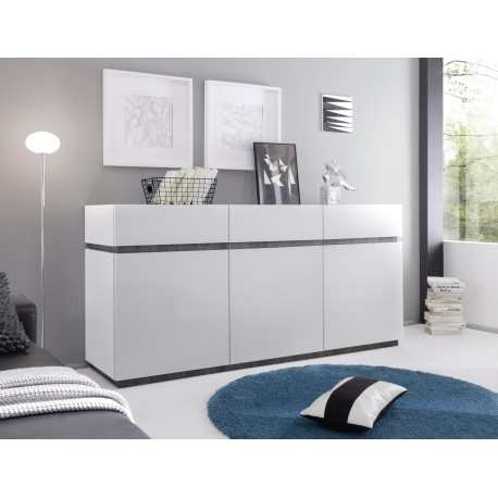 Livia II - white matt lacquered sideboard with drawers