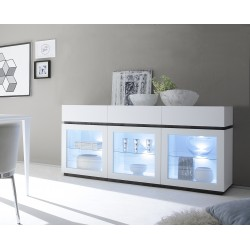 Livia II - matt lacquered display sideboard with drawers