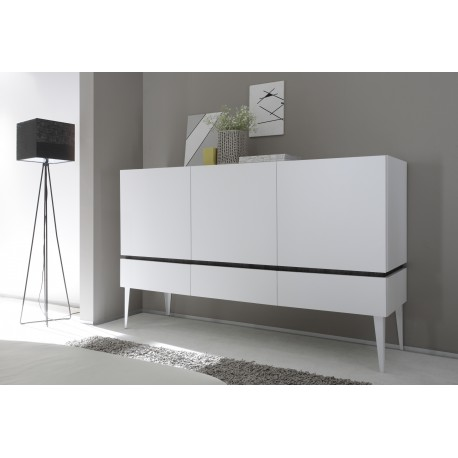 Livia - matt lacquered storage cabinet with drawers