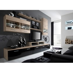 Izzy wall set - santana oak & black or white