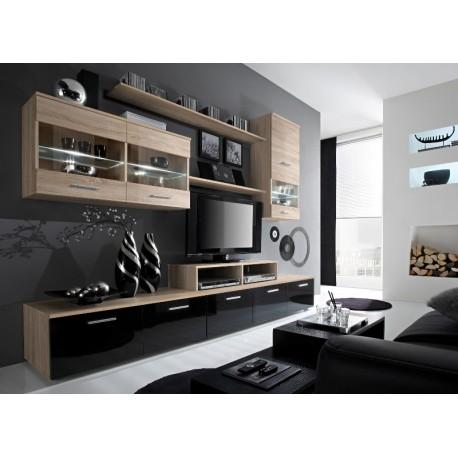 Izzy wall set - santana oak & black or white
