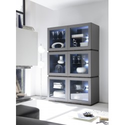 Livia - matt lacquered high vitrine