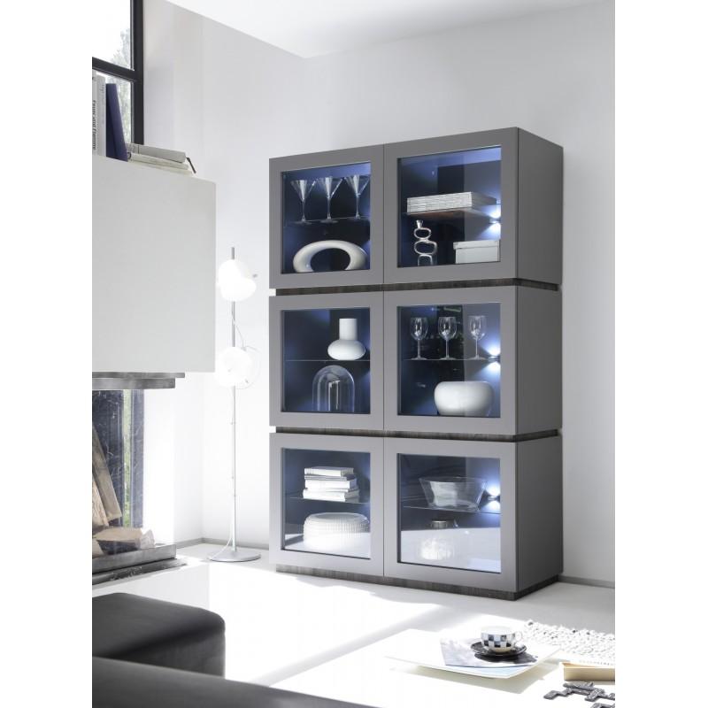 Livia Matt Lacquered High Vitrine Furniture By Room