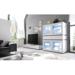 Livia V - large display cabinet with drawers