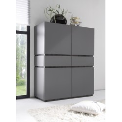 Livia II - matt lacquered storage cabinet with drawers
