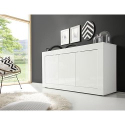 Dolcevita- 3 door white gloss sideboard