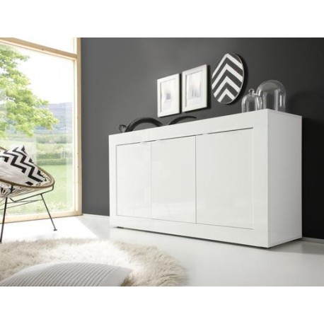 Dolcevita Three Door Sideboard In White Gloss Sideboards