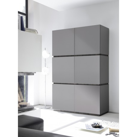 Livia IV - large matt lacquered storage cabinet