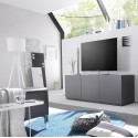 Livia - grey or white lacquered large TV stand