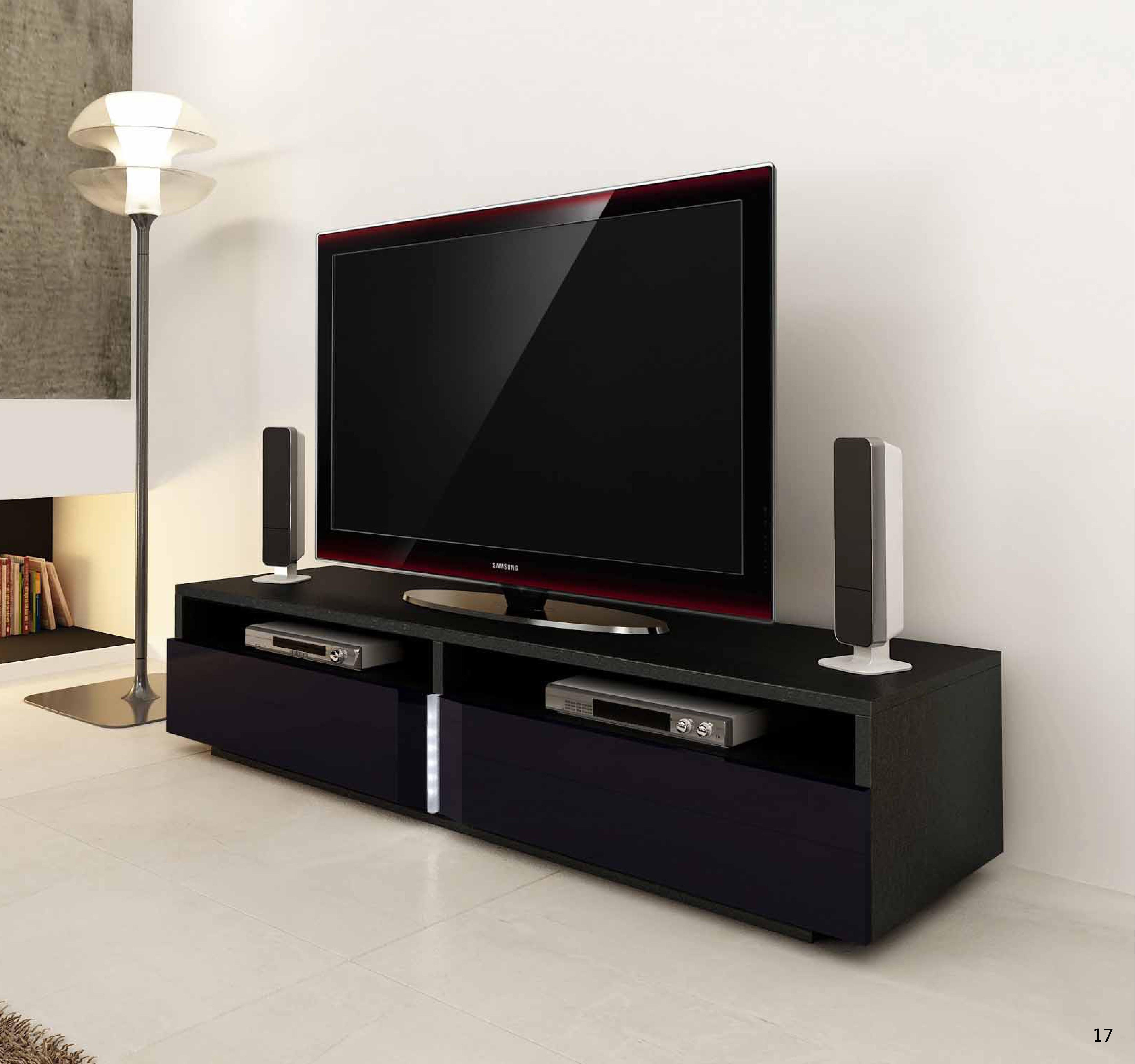 Ika Luxury Tv Unit With Led Lights Tv Stands 1856 Sena Home