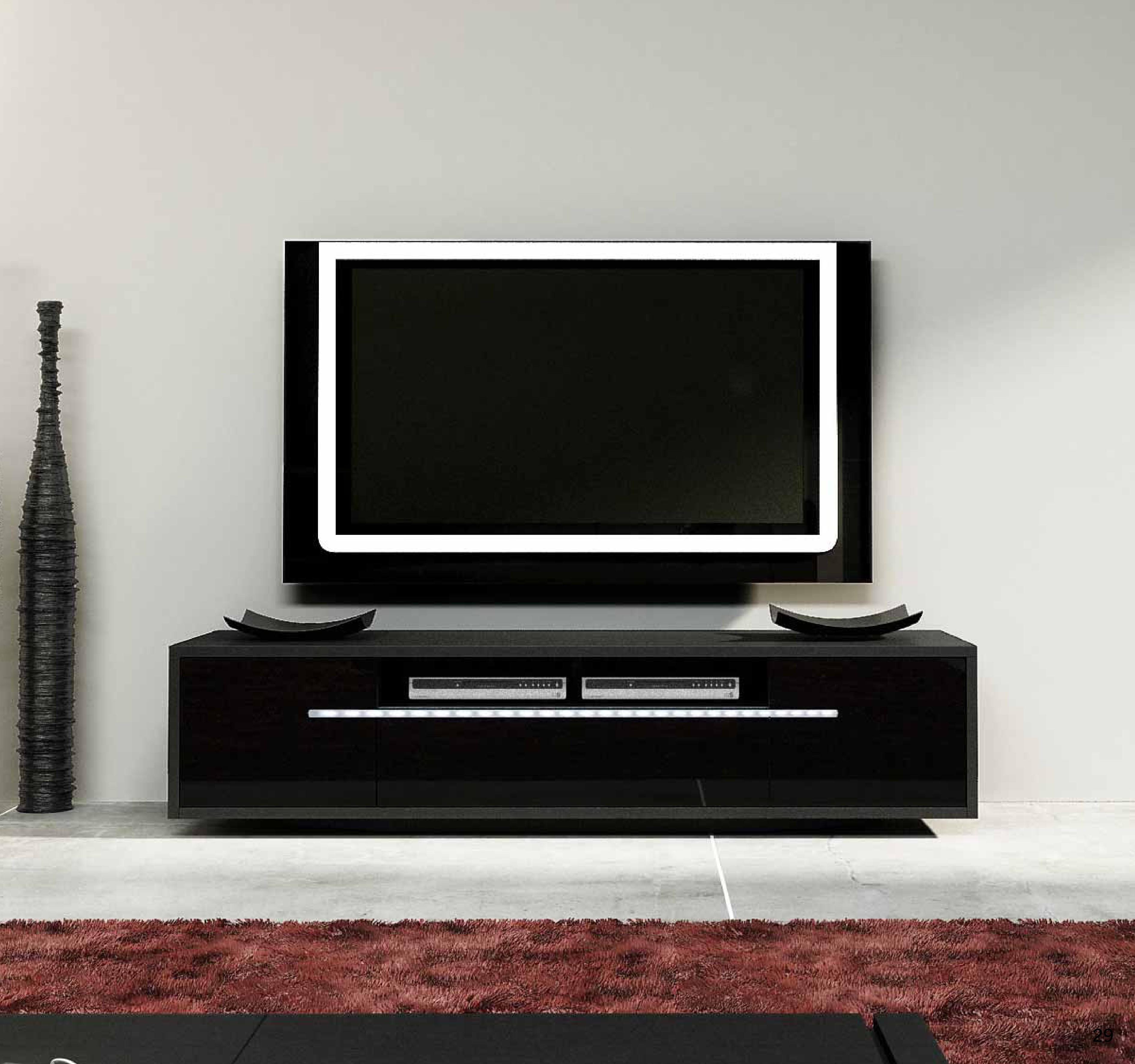 Ecta Luxury Tv Stand With Led Lights Tv Stands 1861