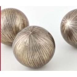 Balls CH - sculpture in champagne lacquer finish