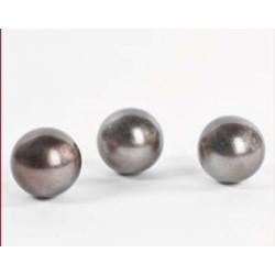 Balls SI - sculpture in warm silver lacquer finish
