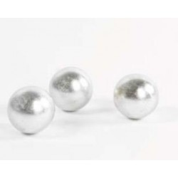 Balls MET - sculpture in silver lacquer finish