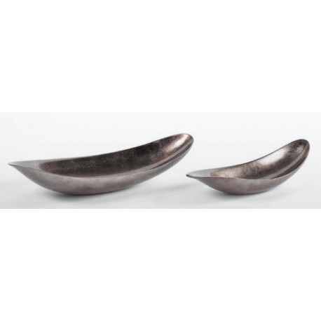 Bowl 1409- sculpture in warm silver lacquer finish