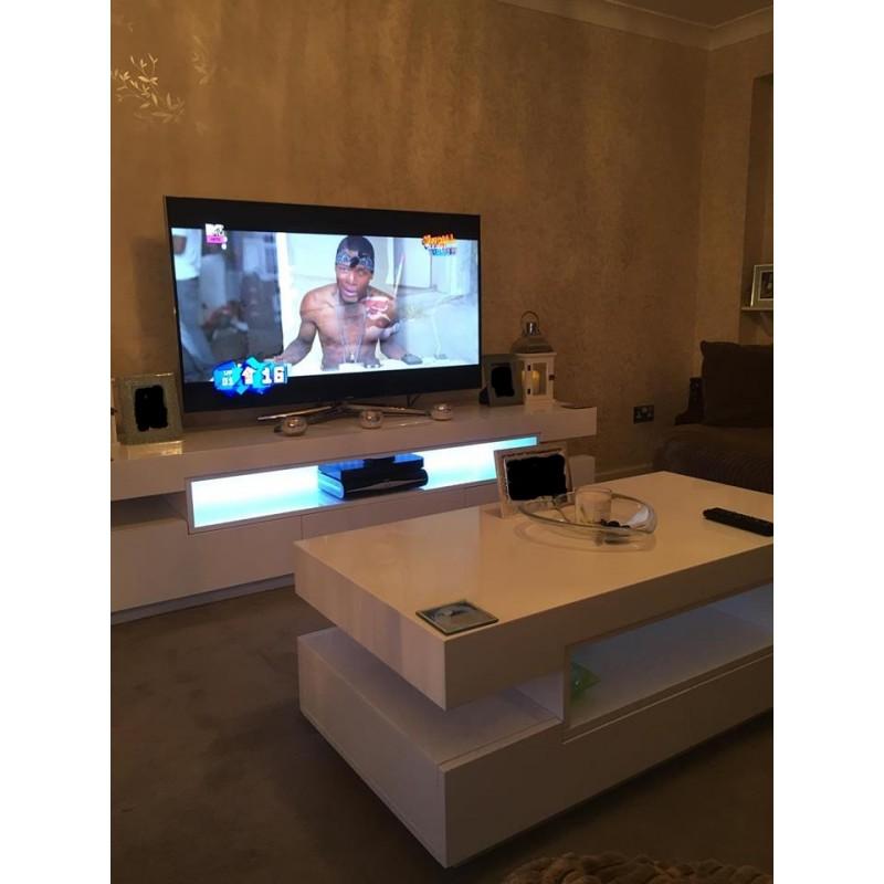 Led Tv Unit : Rotterdam -large gloss tv unit with LED lights - TV stands - Sena Home ...
