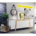 Mag - large solid wood and lacquered sideboard