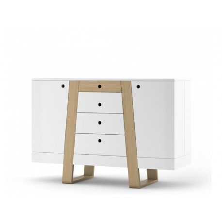 Mag II - solid wood and lacquered sideboard