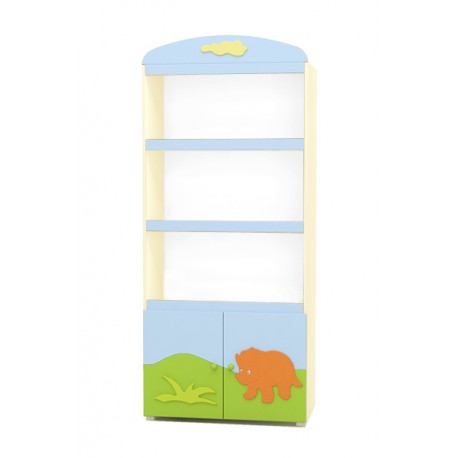 Dinosaur - wide bookcase