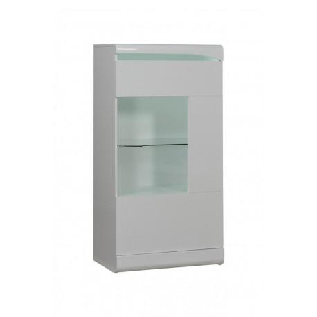 Ovio II -white display cabinet with LED lights