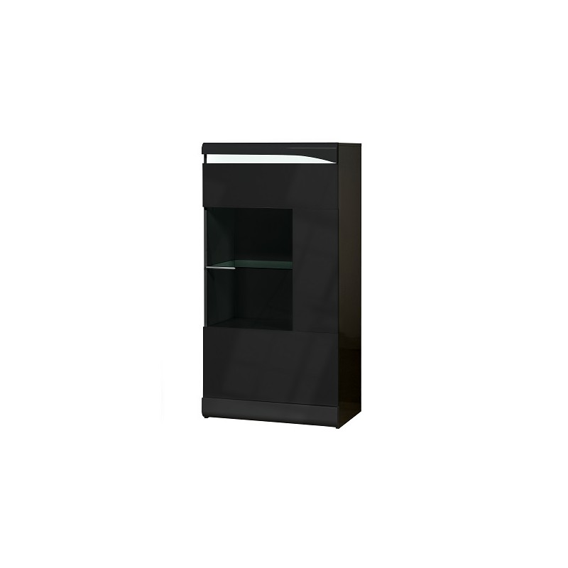 ovio ii black display cabinet with led lights display cabinets
