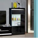 Ovio II - black display cabinet with LED lights