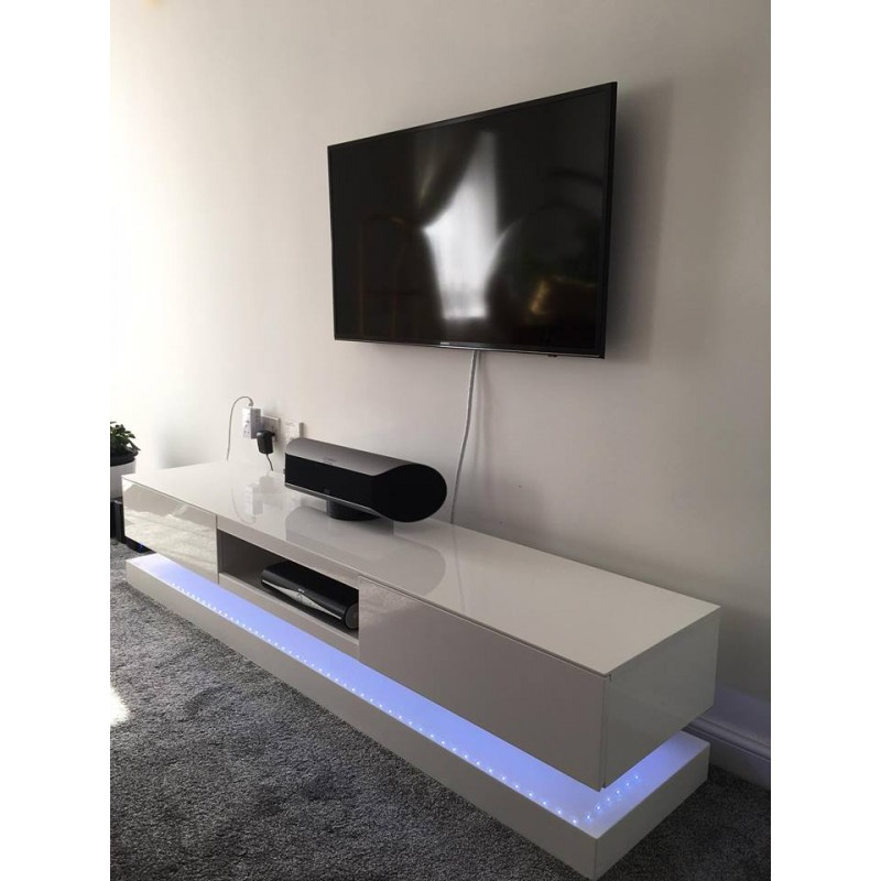 Sven High Gloss Tv Unit With Led Lights Tv Stands 558