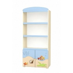 Blue Lagoon - wide bookcase