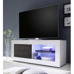 Dolcevita-white gloss with wenge door TV Stand