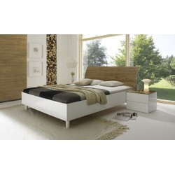 Tambura- Italian modern bed white and honey