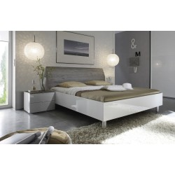 Tambura III - Italian modern bed white and grey