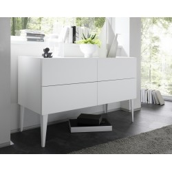 Rex - 4 chest of drawer in white lacquer