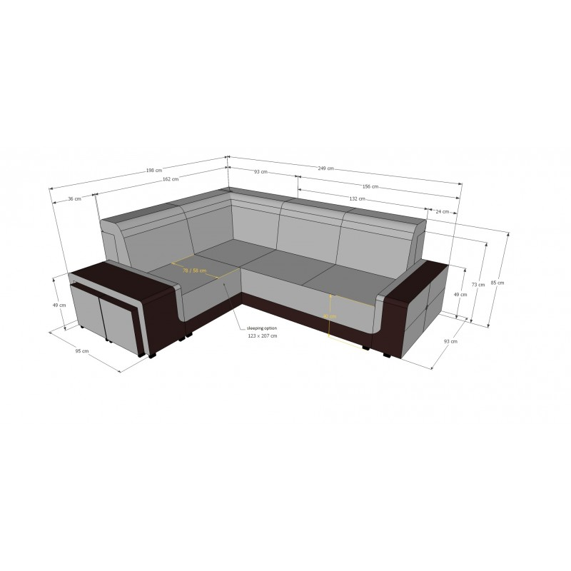 Ares Small Corner Sofa Bed Sofas Sena Home Furniture