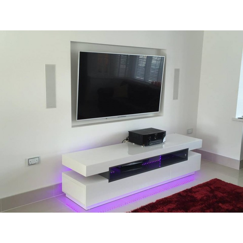 laurent high gloss tv unit tv stands  532  sena home