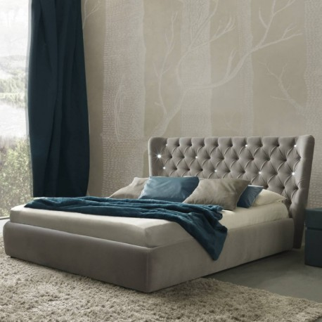 Maxim - Modern Italian upholstered bed-various colours and finishes
