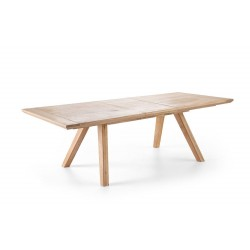 Kioto - solid wood extendable dining table