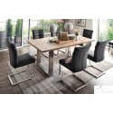 Alma U - solid wood extendable dining table