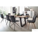 Alma Q - solid wood extendable dining table