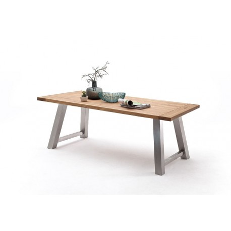 Alma A - solid wood extendable dining table