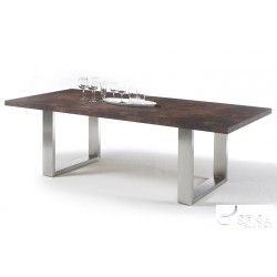 Marble rustic - dining table with stone imitation top