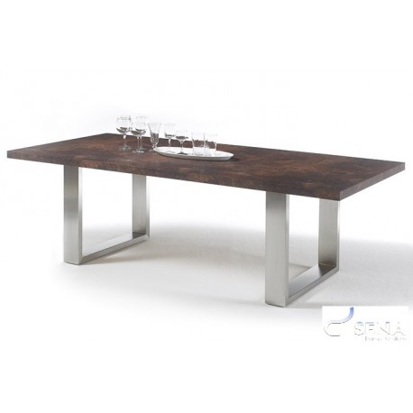 Marble rustic dining table with stone imitation top Dining