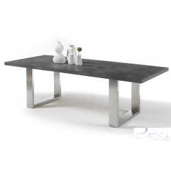 Marble graphite - dining table with stone imitation top