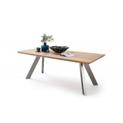 Morgan - solid oak extendable dining table
