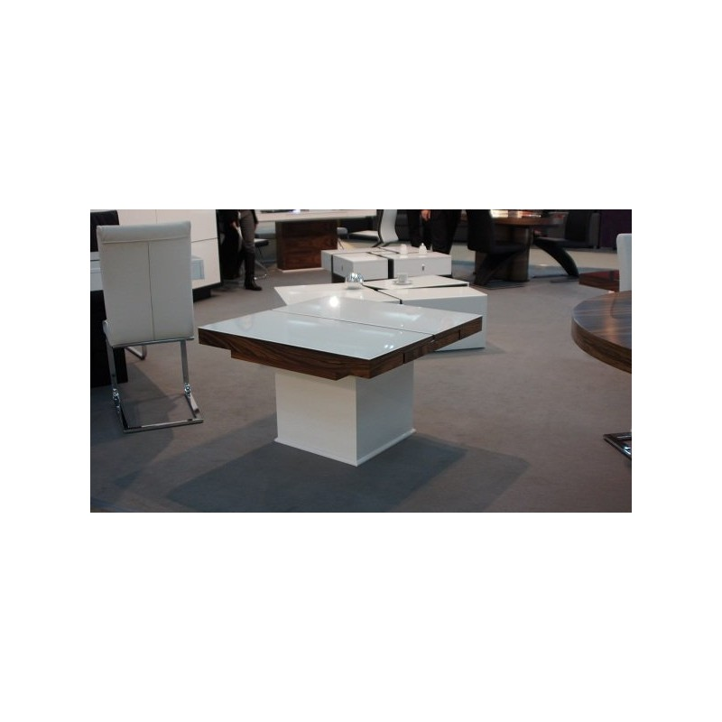 Square glass topped extendable table dining tables for Square glass dining table
