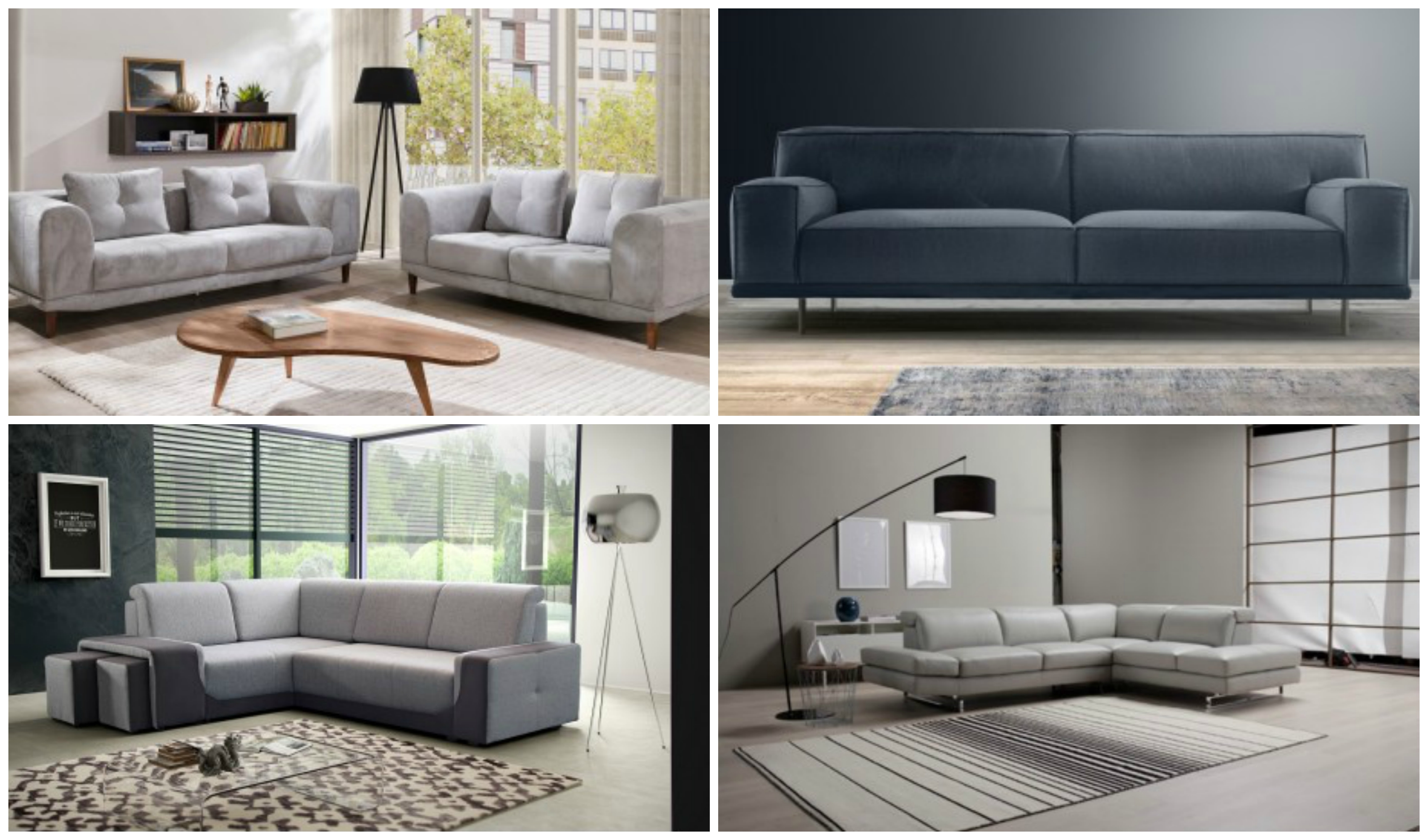 A grey sofa for the living room – a piece of furniture providing many possibilities