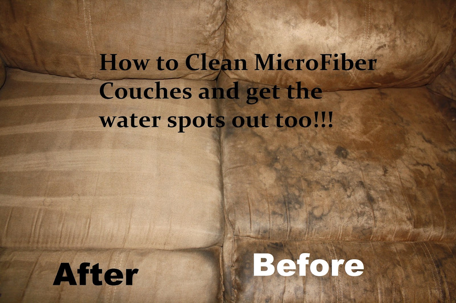 Removing stains from a microfibre sofa